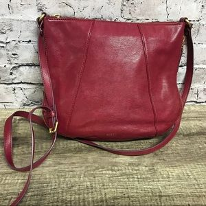 Fossil womens Cabernet leather crossbody zip expan